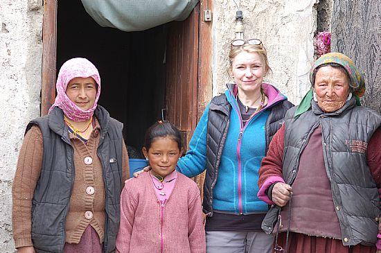 Gail meeting families in 2013