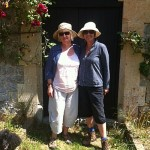 Bric and Yvonne outside Lilstock Church