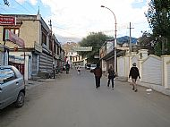 Not many people were out on the streets in Leh at that time in the morning.