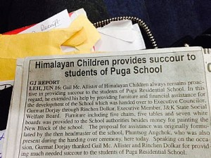 publicity in the local press